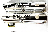 Mopar Performance Aluminum Valve Covers AFTER Chrome-Like Metal Polishing and Buffing Services / Restoration Services Plus Painting Services