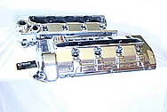 2010 Ford GT500 Aluminum Valve Covers AFTER Chrome-Like Metal Polishing and Buffing Services / Restoration Services Plus Custom Painting Services