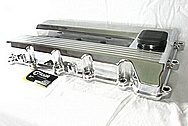 Aluminum 4 Cylinder Valve Covers AFTER Chrome-Like Metal Polishing and Buffing Services / Restoration Services
