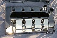 Ford Mustang GT500 Aluminum Valve Covers AFTER Chrome-Like Metal Polishing and Buffing Services