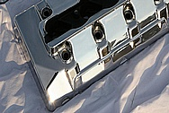 Ford Shelby GT500 Aluminum Valve Covers AFTER Chrome-Like Metal Polishing and Buffing Services