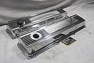 Aluminum V8 Valve Covers AFTER Chrome-Like Metal Polishing and Buffing Services / Restoration Services / Painting Services