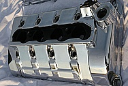 Ford Mustang Cobra Aluminum Valve Covers AFTER Chrome-Like Metal Polishing and Buffing Services