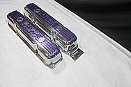 Mopar Performance Aluminum V8 Engine Valve Covers AFTER Chrome-Like Metal Polishing and Buffing Services