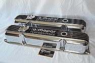 Mopar Performance Aluminum Engine Valve Covers AFTER Chrome-Like Metal Polishing and Buffing Services Plus Custom Painting Services