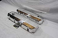 Pilcher Racing Aluminum Valve Covers AFTER Chrome-Like Metal Polishing and Buffing Services / Restoration Services