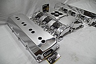 Aluminum Engine Valve Covers AFTER Chrome-Like Metal Polishing and Buffing Services / Restoration Services / Custom Painting Services