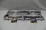 Toyota Supra Aluminum I6 Engine Valve Covers AFTER Chrome-Like Metal Polishing and Buffing Services / Restoration Services