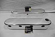 Aluminum V8 Engine Valve Covers AFTER Chrome-Like Metal Polishing and Buffing Services / Restoration Services