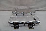 V8 Sheet Metal Valve Covers AFTER Chrome-Like Metal Polishing and Buffing Services / Restoration Services