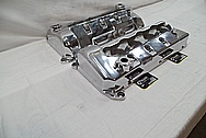 Ford Mustang Cobra Aluminum Valve Covers AFTER Chrome-Like Metal Polishing and Buffing Services / Restoration Services