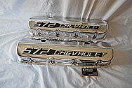 572 Chevorlet Aluminum Valve Covers AFTER Chrome-Like Metal Polishing and Buffing Services / Restoration Services