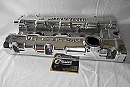 Mitsubishi v6 DOHC 24v Aluminum Valve Covers BEFORE Chrome-Like Metal Polishing and Buffing Services / Restoration Services
