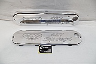 Pontiac GTO 427 Supercharg Engine Aluminum Valve Covers AFTER Chrome-Like Metal Polishing and Buffing Services / Restoration Services