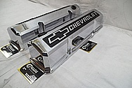 Chevrolet Aluminum Valve Covers AFTER Chrome-Like Metal Polishing and Buffing Services / Restoration Services and Custom Painting Services