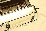 Mitsubishe Evolution Aluminum Valve Cover AFTER Chrome-Like Metal Polishing and Buffing Services