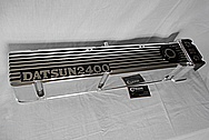 Aluminum Datsun 2400 O.H.C Valve Covers AFTER Chrome-Like Metal Polishing and Buffing Services / Restoration Services