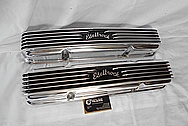 Aluminum Edelbrock Valve Covers AFTER Chrome-Like Metal Polishing and Buffing Services / Restoration Services