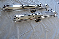 Aluminum Jaguar Valve Covers AFTER Chrome-Like Metal Polishing and Buffing Services / Restoration Services