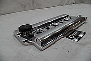 1994 Oldsmobile Cutlass Supreme Aluminum Valve Cover AFTER Chrome-Like Metal Polishing and Buffing Services / Restoration Services