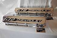 Chevrolet 572Aluminum Valve Cover AFTER Chrome-Like Metal Polishing and Buffing Services / Restoration Services