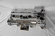 Toyota Celica 3S-GTE Aluminum Valve Cover AFTER Chrome-Like Metal Polishing - Aluminum Polishing