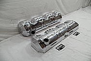 Willy's Jeep Tornado 230 Aluminum Valve Cover AFTER Chrome-Like Metal Polishing - Aluminum Polishing