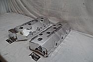 Ray Barton Aluminum Valve Covers AFTER Chrome-Like Metal Polishing - Aluminum Polishing - Custom Painting