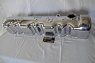 Mercedes Benz Aluminum Valve Cover AFTER Chrome-Like Metal Polishing - Aluminum Polishing