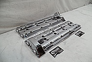 Chevrolet ZR-1 Corvette Aluminum Valve Covers AFTER Chrome-Like Metal Polishing - Aluminum Valve Cover Polishing