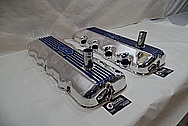Ford 427 SOHC Valve Covers AFTER Chrome-Like Metal Polishing - Aluminum Polishing Services - Custom Painting Services