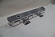 Finned Aluminum Valve Cover AFTER Chrome-Like Metal Polishing - Aluminum Polishing Services