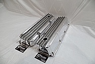 Ford 351 Cleveland Engine Aluminum Valve Covers With Fins AFTER Chrome-Like Metal Polishing - Aluminum Polishing Services