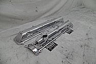 1993 - 1998 Toyota Supra 2JZ-GTE Aluminum Valve Covers AFTER Chrome-Like Metal Polishing - Aluminum Polishing Services