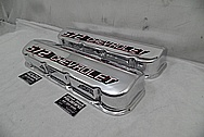 Chevrolet 572 Big Block Chevy Aluminum Valve Covers AFTER Chrome-Like Metal Polishing and Buffing Services - Aluminum Polishing Plus Custom Painting Services
