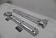 Jaguar Aluminum Valve Covers AFTER Chrome-Like Metal Polishing and Buffing Services - Aluminum Polishing Services