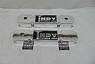 Indy Cylinder Head Aluminum Valve Covers AFTER Chrome-Like Metal Polishing and Buffing Services - Aluminum Polishing Services PLUS Custom Painting Services