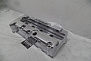 K-Tuned Aluminum Valve Cover AFTER Chrome-Like Metal Polishing and Buffing Services - Aluminum Polishing PLUS Custom Painting