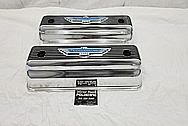 1965 Ford Thunderbird Aluminum Valve Covers AFTER Chrome-Like Metal Polishing and Buffing Services - Aluminum Polishing - Valve Cover Polishing - Plus Custom Painting Services