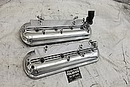 GM LS1 Aluminum Valve Covers AFTER Chrome-Like Metal Polishing - Aluminum Polishing Services Plus Custom Painting Services