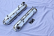Chevy LS1 Aluminum Valve Covers AFTER Chrome-Like Metal Polishing and Buffing Services