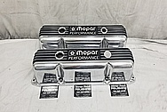 Mopar Performance Aluminum Valve Covers AFTER Chrome-Like Metal Polishing - Aluminum Polishing and Custom Painting Service