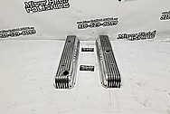 Buick Vintage Aluminum V8 Engine Valve Covers AFTER Chrome-Like Metal Polishing - Aluminum Polishing Services