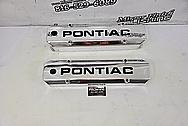 Pontiac Aluminum Valve Covers AFTER Chrome-Like Polishing and Buffing - Aluminum Polishing - Valve Cover Polishing Plus Custom Accent Painting Service