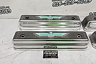 1957 Ford Thunderbird Aluminum Valve Covers AFTER Chrome-Like Metal Polishing and Buffing Services / Restoration Services - Aluminum Polishing Plus Custom Painting Service