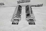 351 Cleveland Aluminum Valve Covers AFTER Chrome-Like Metal Polishing - Aluminum Polishing - Valve Cover Polishing