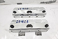 Hemi Aluminum Valve Covers AFTER Chrome-Like Metal Polishing and Buffing Services / Restoration Services - Aluminum Polishing - Valve Cover Polishing