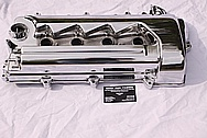 4 Cylinder Aluminum Valve Covers AFTER Chrome-Like Metal Polishing and Buffing Services