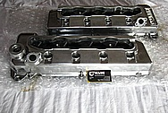 2010 Ford GT500 Aluminum Valve Covers BEFORE Chrome-Like Metal Polishing and Buffing Services / Restoration Services Plus Custom Painting Services