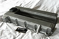 Aluminum 4 Cylinder Valve Covers BEFORE Chrome-Like Metal Polishing and Buffing Services / Restoration Services